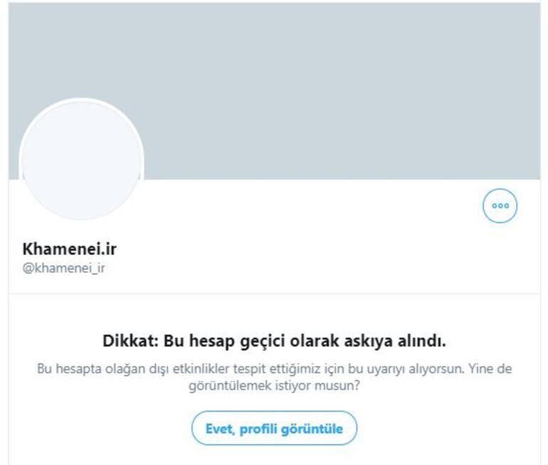 Son dakika... Twitter, İranın dini lideri Ali Hamaneyin hesabını askıya aldı