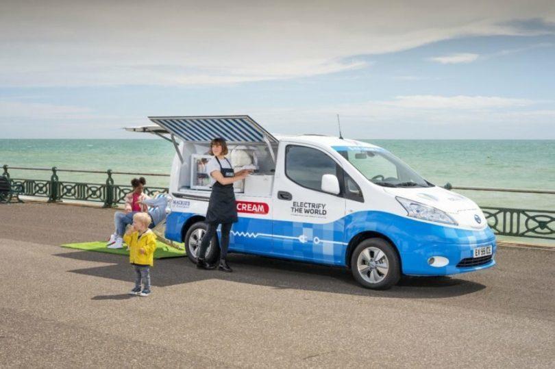 NISSAN'ın sıfır emisyonlu dondurma minibüsü ile ilgili görsel sonucu