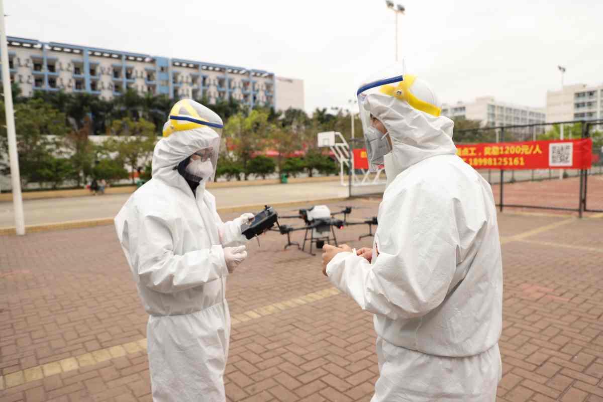 coronavirüs dron