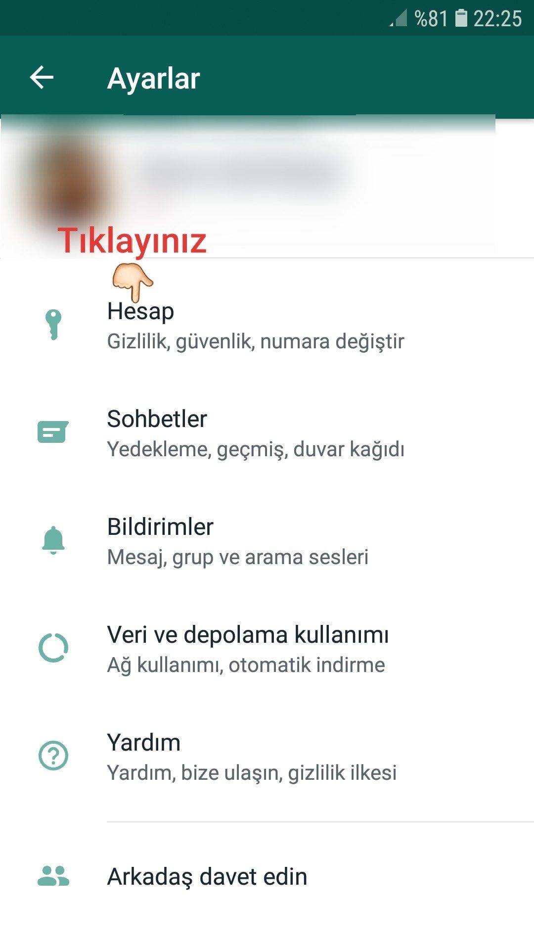 WhatsApp'ta Son Görülme Nasıl Kapatılır