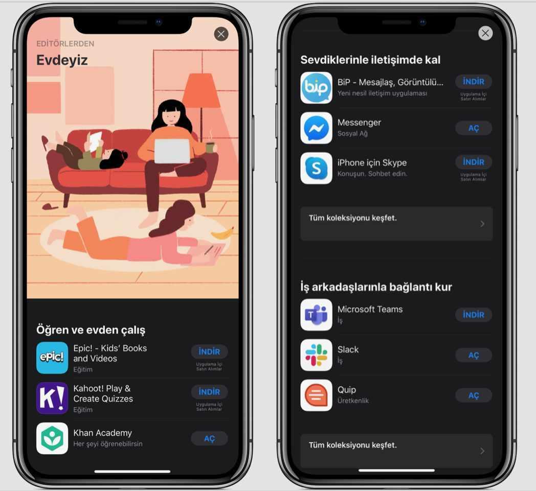 app store evdeyiz uygulamaları