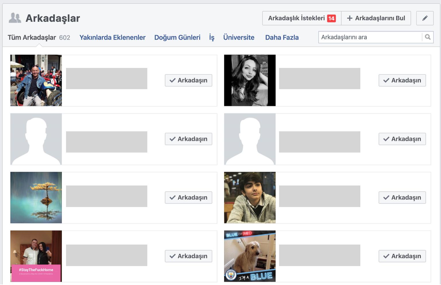 facebook arkadas listesi gizleme islemi nasil yapilir