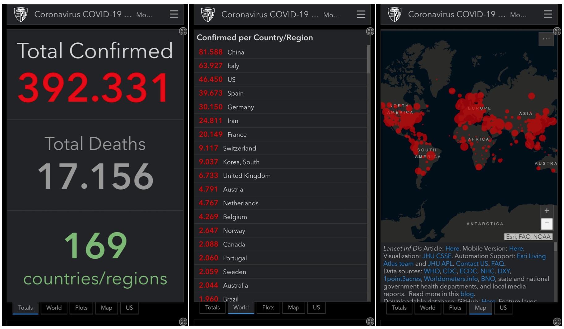 mobil koronavirus haritasi