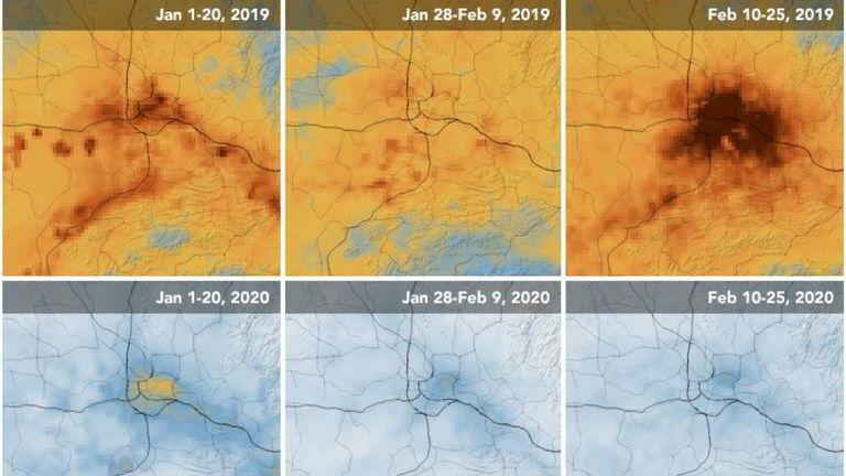 nasa çin'in uydu görüntülerini yayınladı