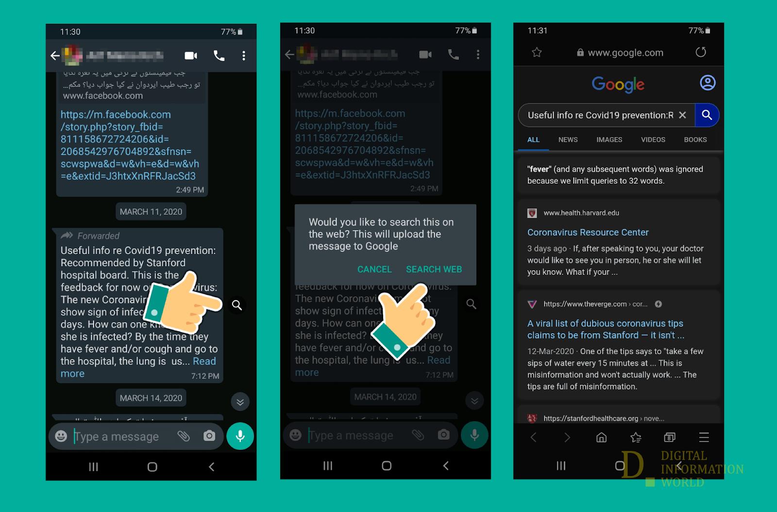whatsapp bilgi arama özelliği