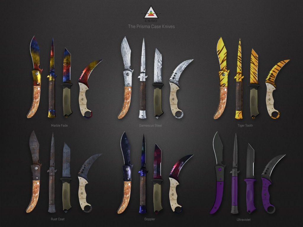 CS: GO yeni bıçak kaplamaları