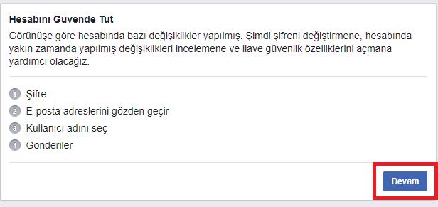 Facebook hesabım çalındı şikayet