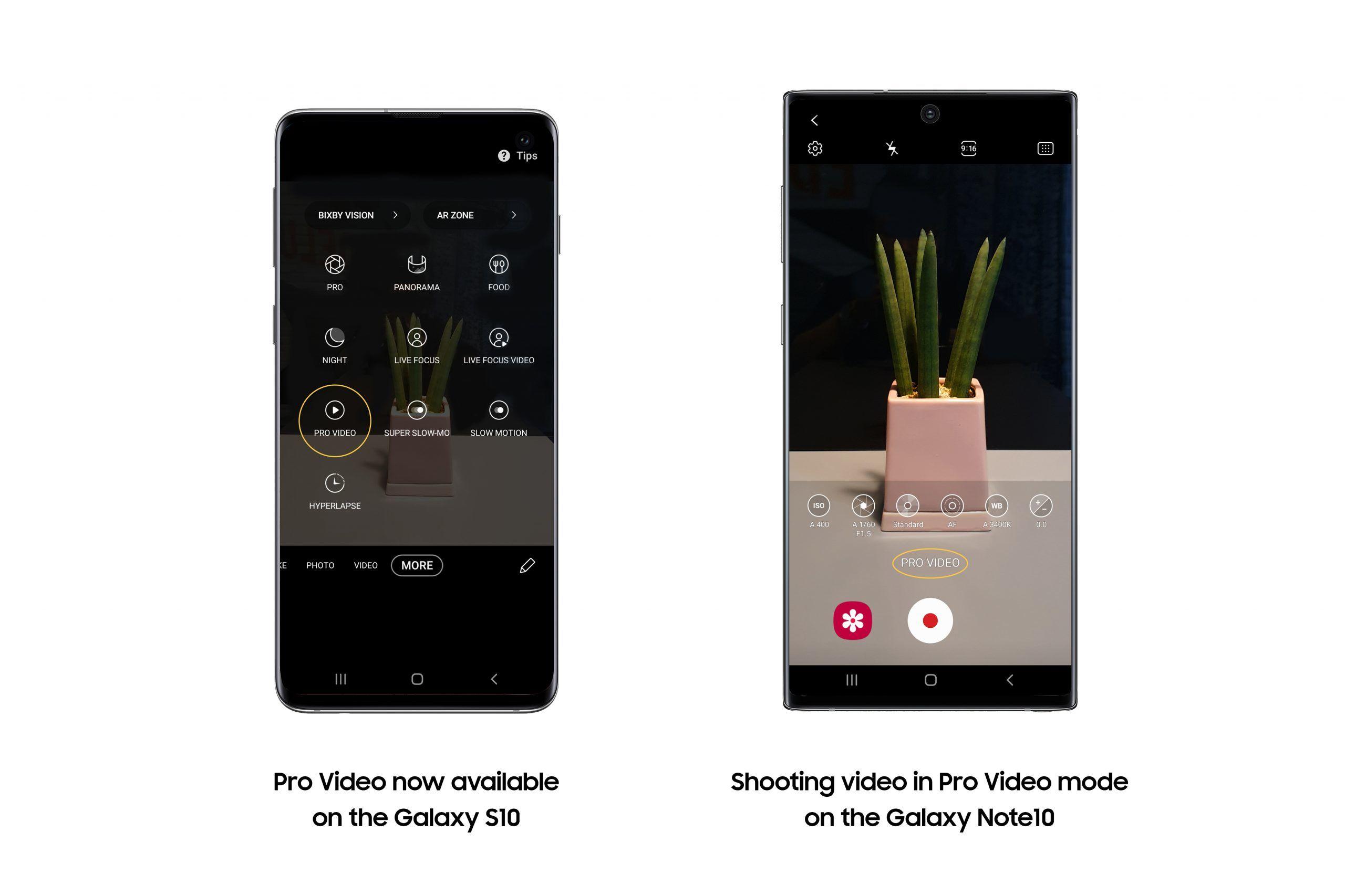 galaxy s10 gelişmiş video özelliği