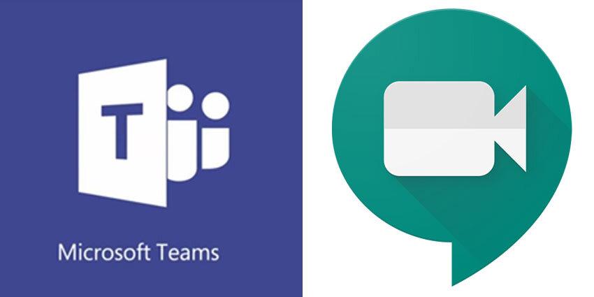 Microsoft Teams Google Meet Koronavirüs