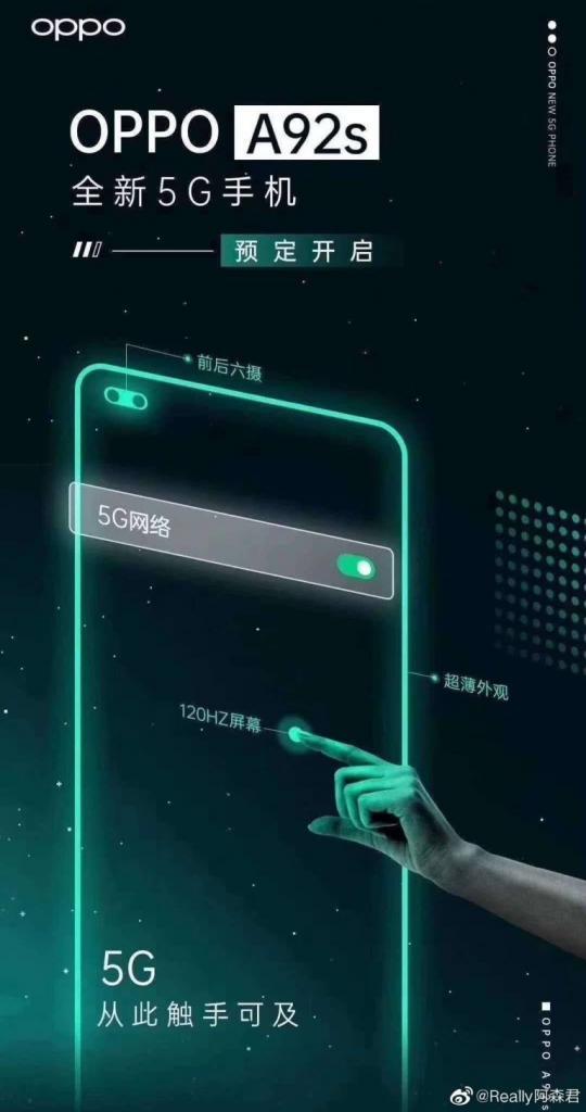 Oppo A92s teknik özellikler