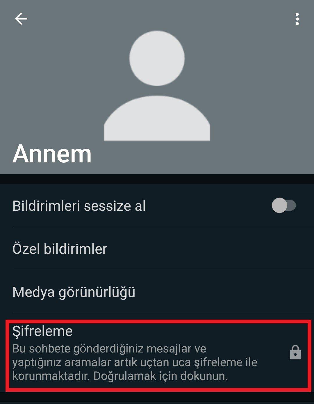 whatsapp güvenlik kodu kontrolü