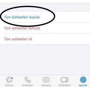 whatsapp mesaj arşivleme iphonenasıl yapılır