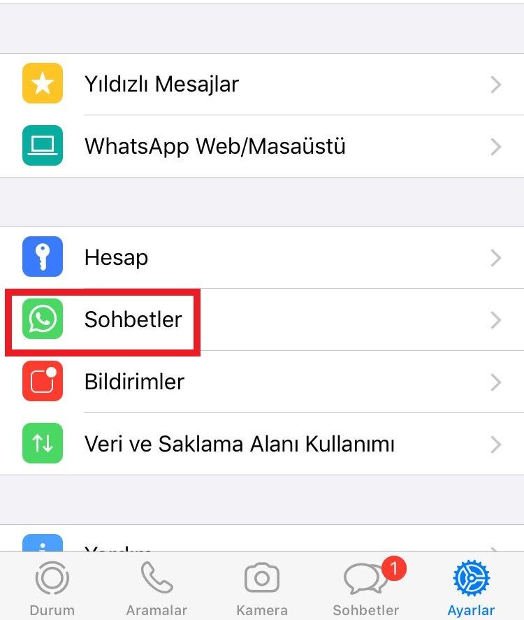 whatsapp yedekleme ios