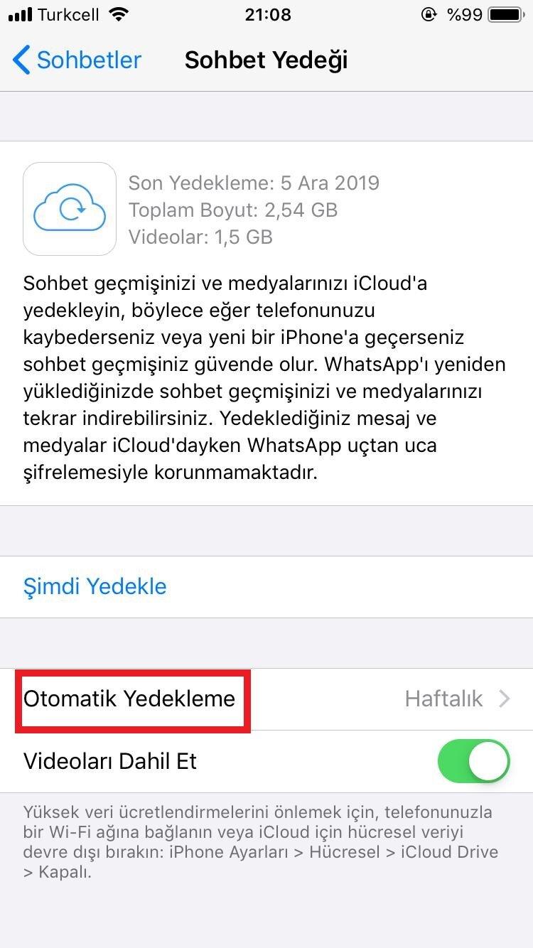 whatsapp yedekleme nasıl yapılır iphone