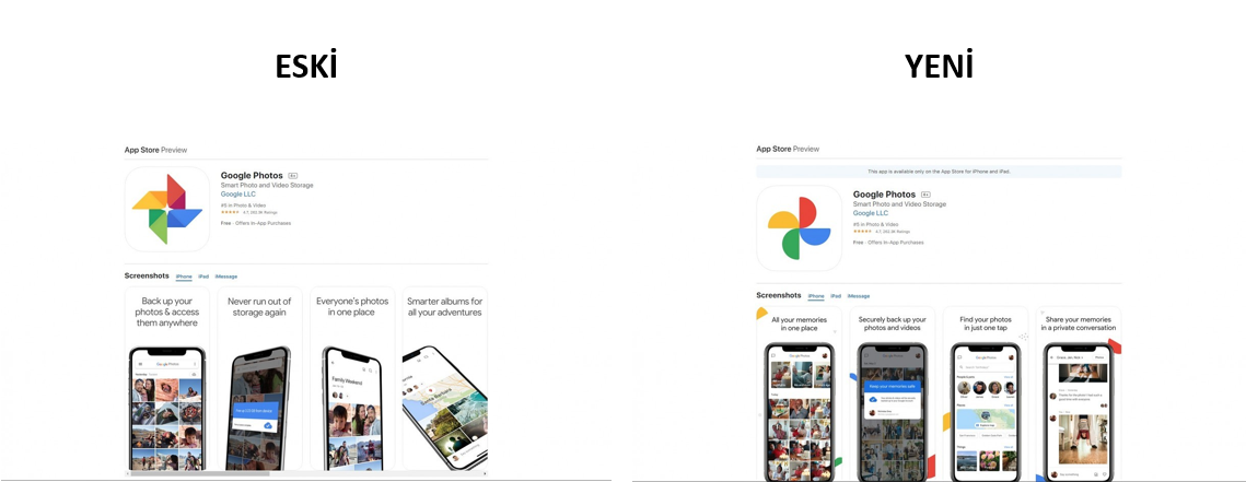 google-fotograflar-eski-yeni-logo