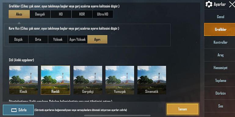 pubg mobile grafik ayarları