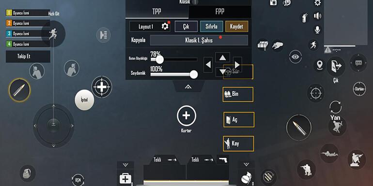 pubg mobile kontrol çeşitleri
