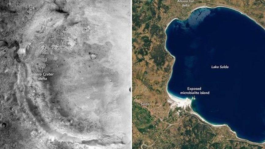NASA Salda Gölü Jezero Krateri