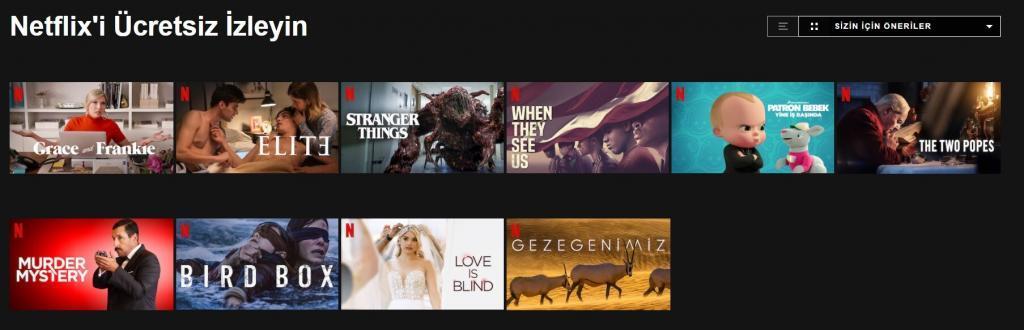 Netflix'i Ücretsiz İzleyin