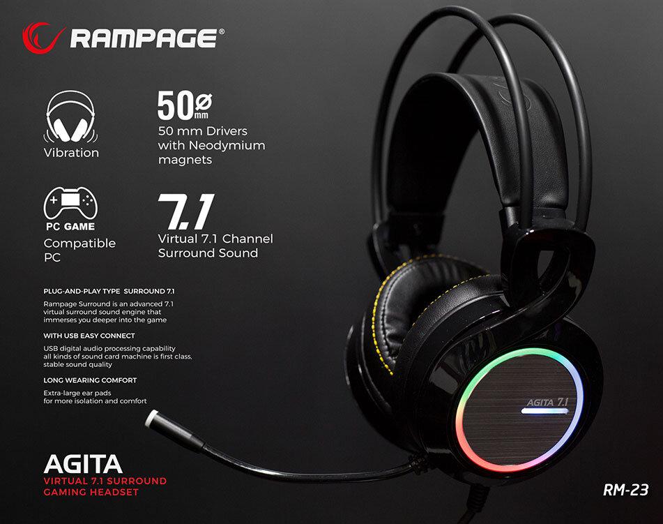 Rampage RM-23 Agita RGB USB 7.1