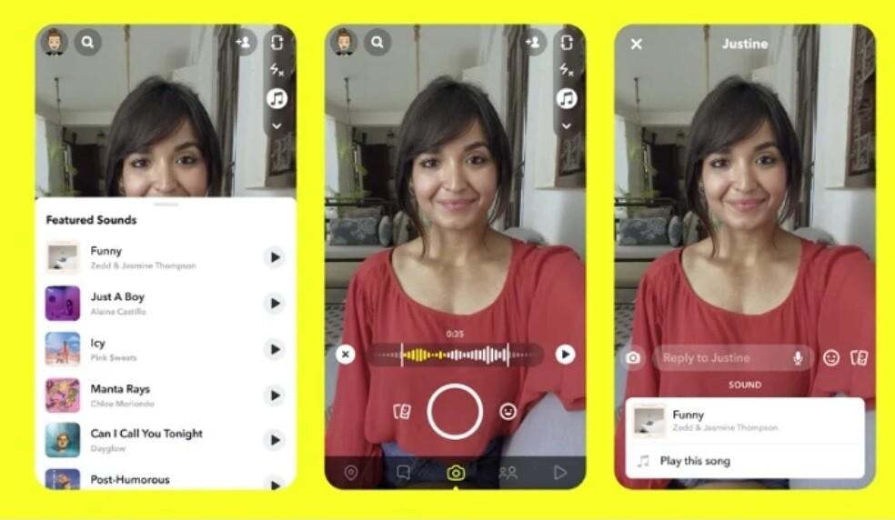Snapchat Hikayelere Müzik Ekleme