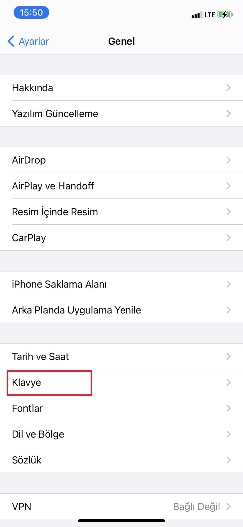 iOS Klavye İngilizce Oldu, Ne Yapmalıyım