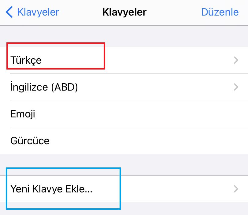 iphone klavye ingilizce oldu nasıl düzeltirim