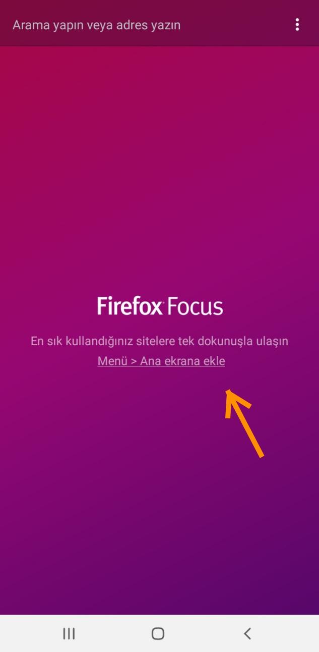 Firefox Focus Ayarlar