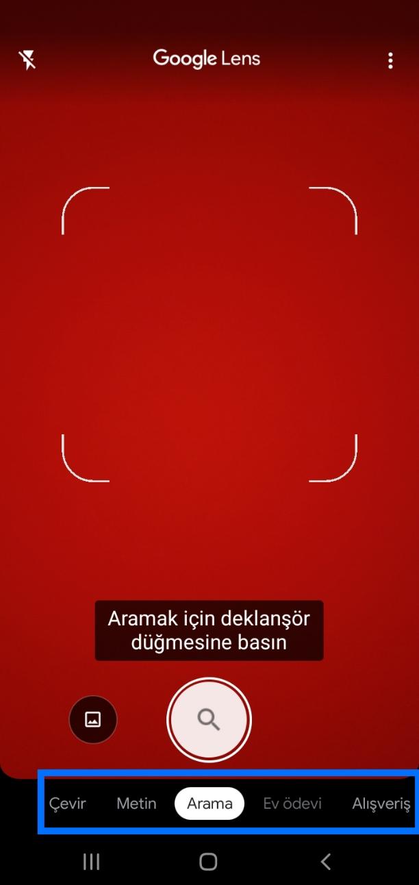 Google Lens Arama
