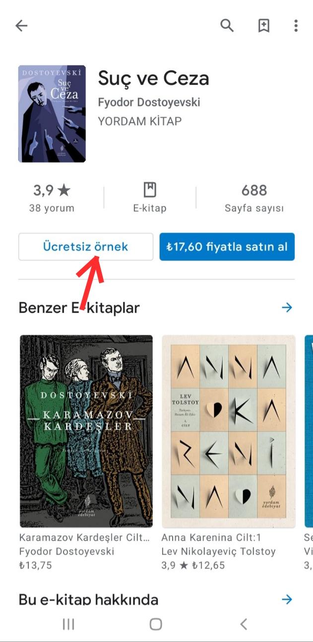 Google Play Kitaplar Ayarlar