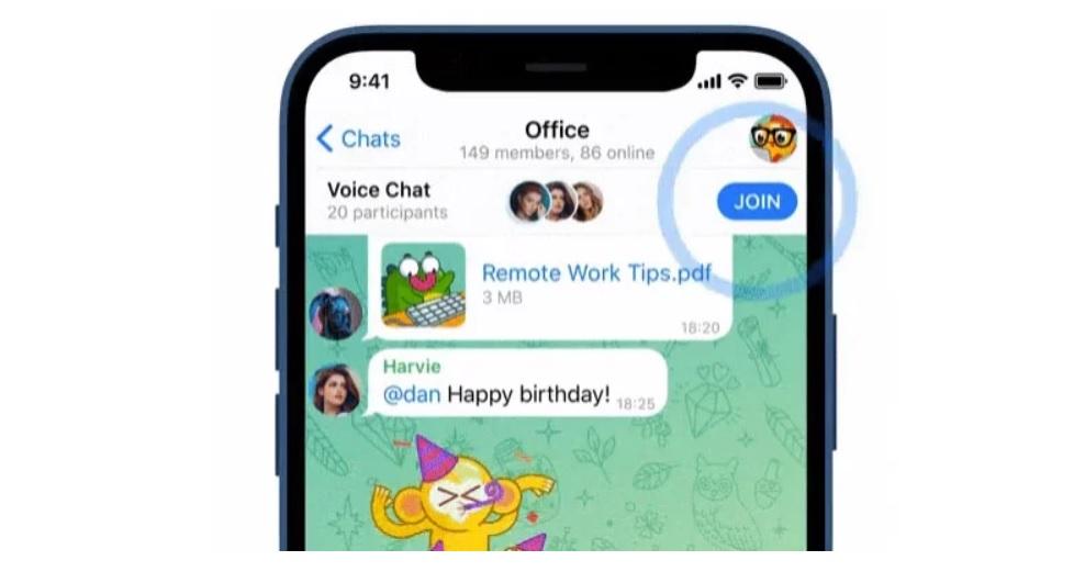Telegram Sesli Sohbet Özelliği