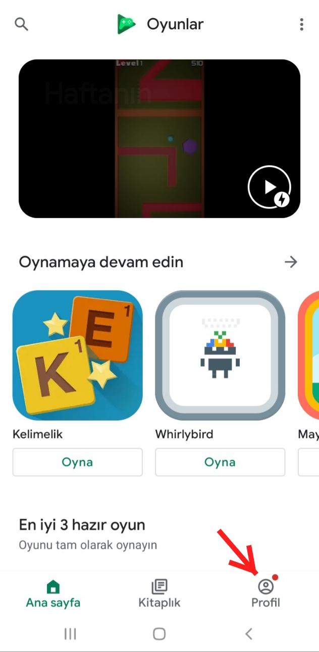 Google Play Oyunlar Hesap Silme