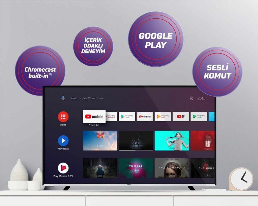 Regal Android TV Ekran Boyutu
