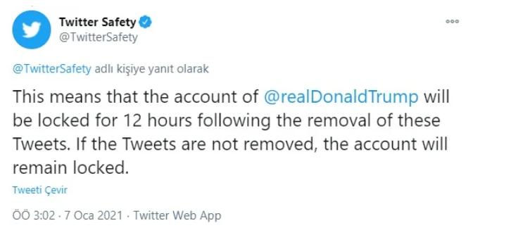 Twitter ABD Başkanı