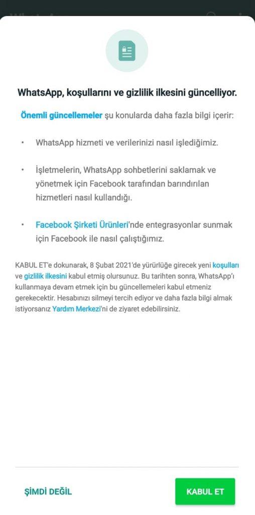 WhatsApp Kullanıcı Verileri Facebook