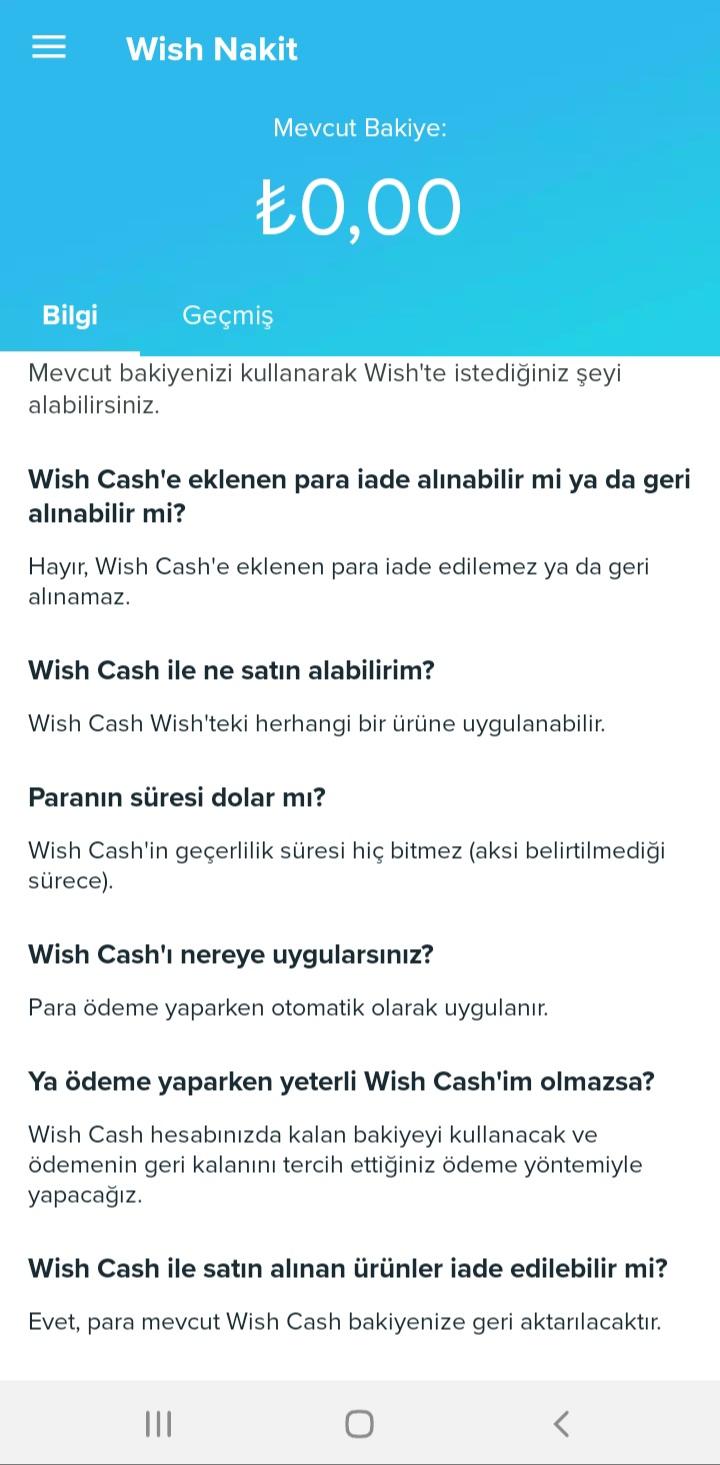Wish Nedir?