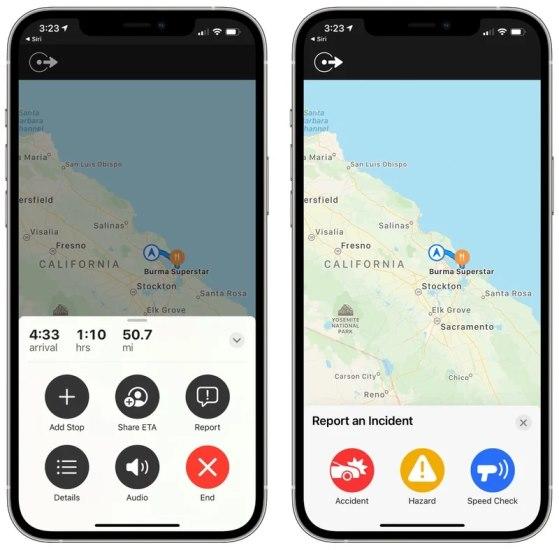 Apple Maps Raporlama
