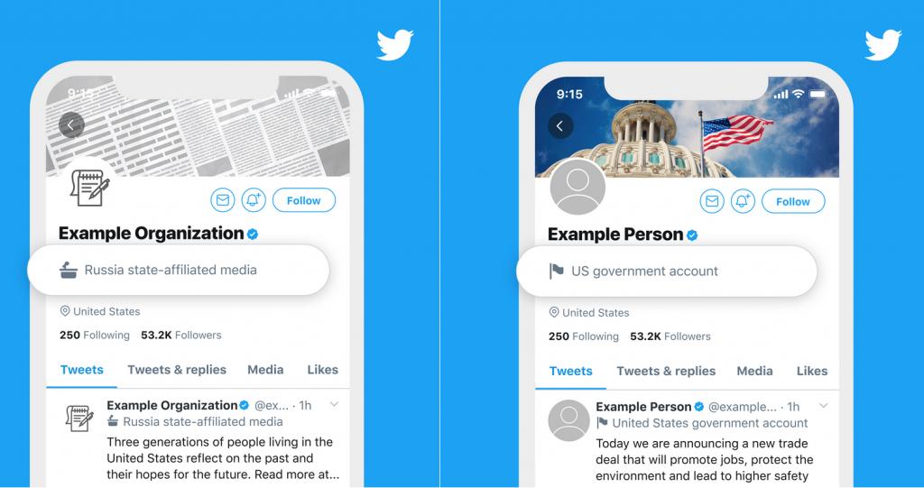Twitter Devlet Güdümlü Medya Etiketi