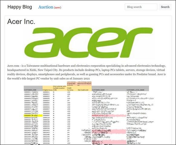 Acer Fidye Yazılımı
