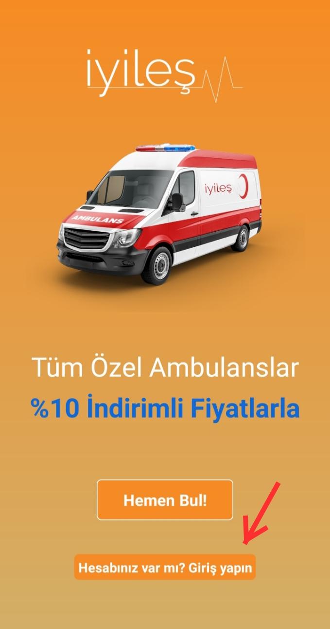 İyileş Uygulamasında Nasıl Ambulans Çağrılır?