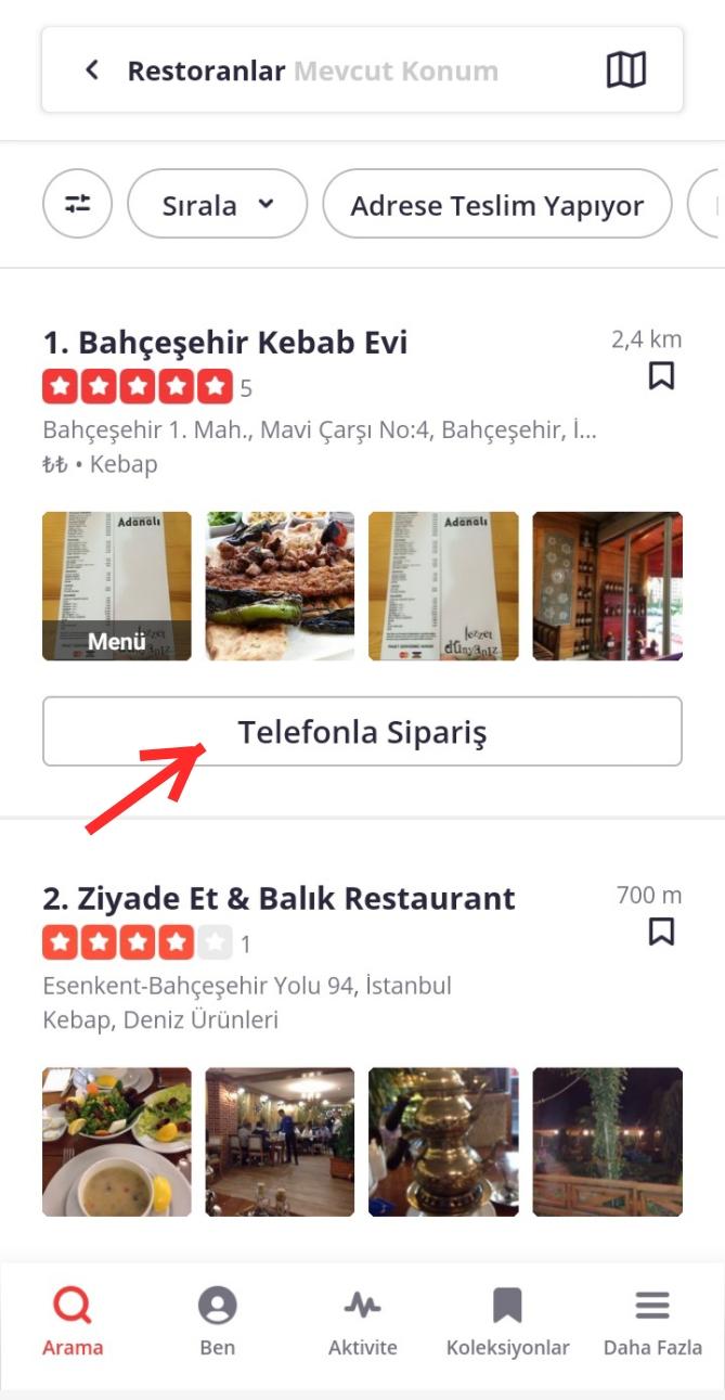 Yelp Uygulamasında Restoran, Kafe Keşfetme