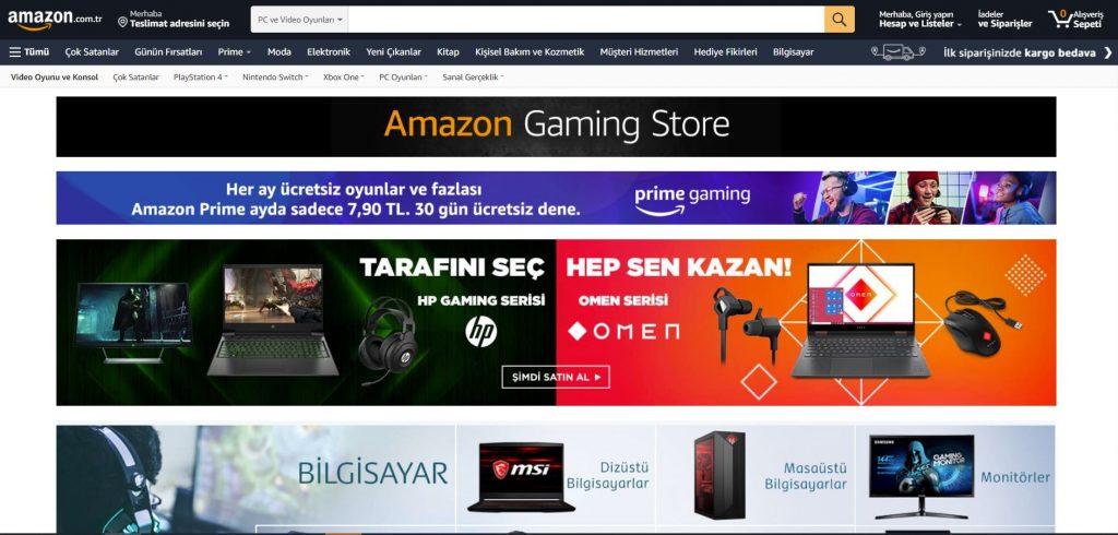 Amazon Gaming Store Kategorisi