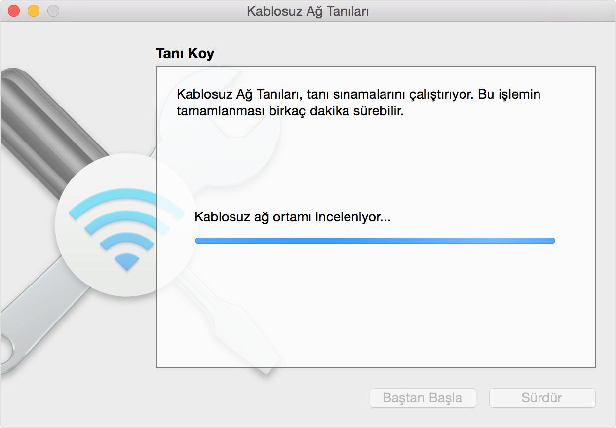 Mac kullanıcısıysanız da alt tuşuyla Wi-Fi seçeneğine tıklayın. Açılan sayfadaki
