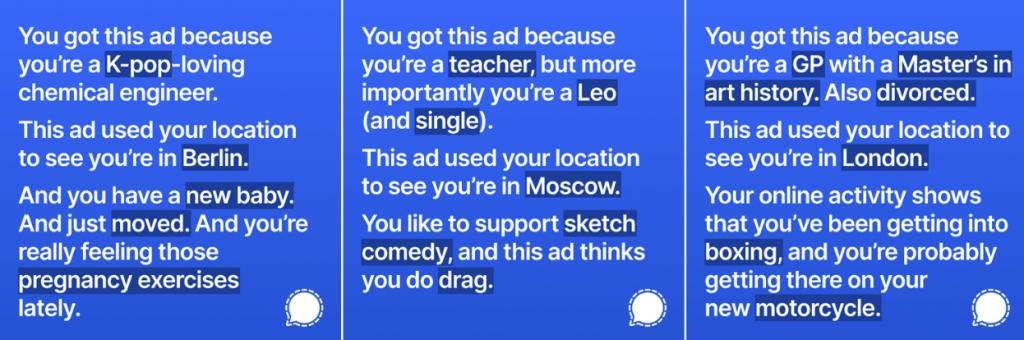 Signal Facebook Karşıtı Reklam Kampanyası
