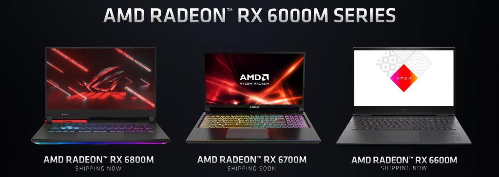 AMD Radeon RX 6000M Serisi